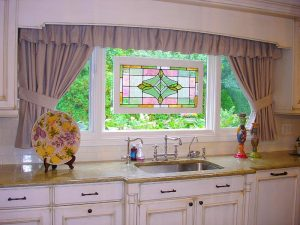 beautiful-cool-design-for-kitchen-window-curtains-with-grey-color-ideas